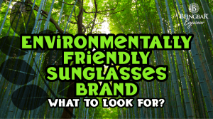 Environmentally Friendly Sunglasses Brand - What To Look For