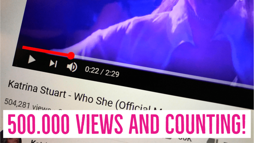Half a million views and counting, for Katrina's music video after just two weeks