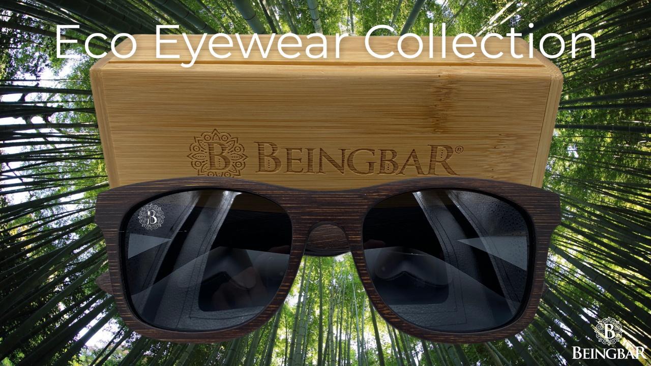 BEINGBAR Eco Eyewear Range With Collector's Box bamboo logo