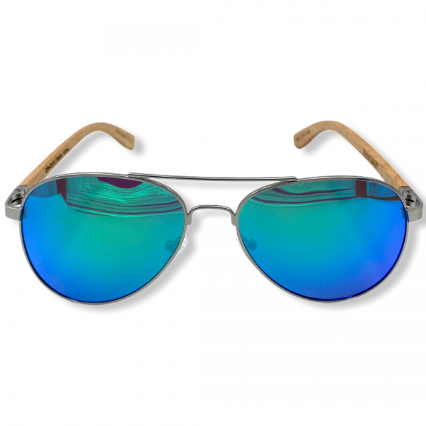 Beingbar Sun Eyewear BNGBR_AVT_200258 Flame Bamboo Turqoise Polarized Sunglasses-1