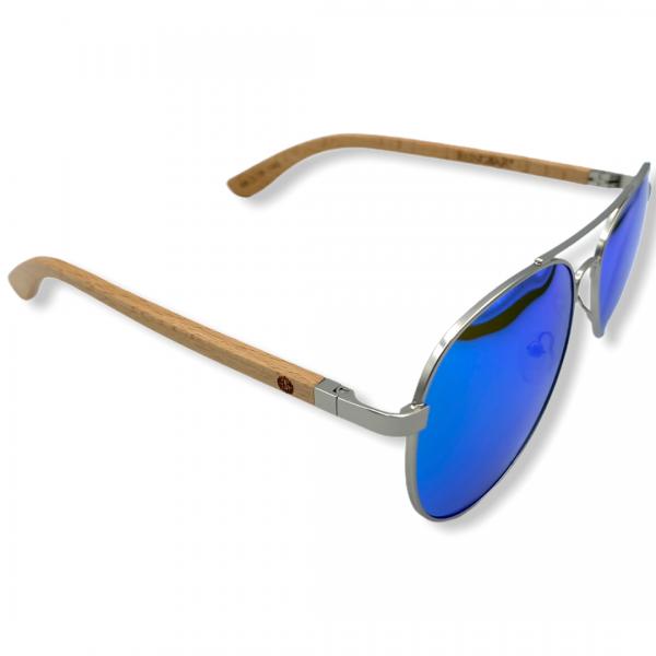 Beingbar Sun Eyewear BNGBR_AVT_200258 Flame Bamboo Turqoise Polarized Sunglasses-3