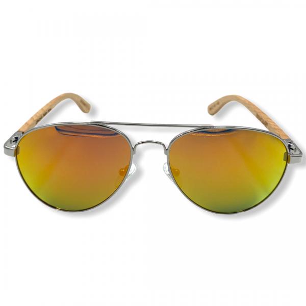 Beingbar Sun Eyewear BNGBR_AVT_200266 Flame Bamboo Orange Polarized Sunglasses-1