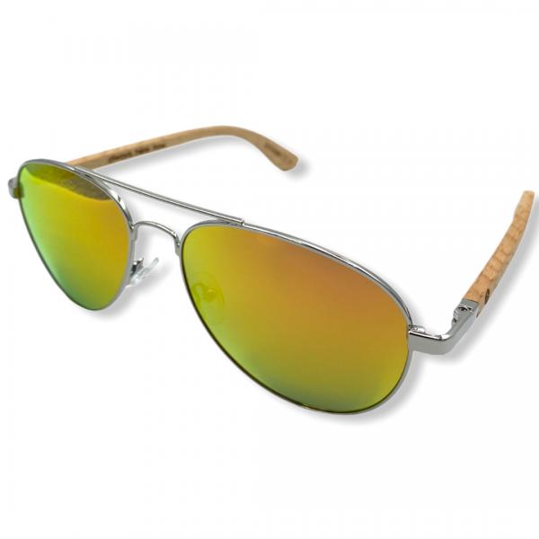 Beingbar Sun Eyewear BNGBR_AVT_200266 Flame Bamboo Orange Polarized Sunglasses-2