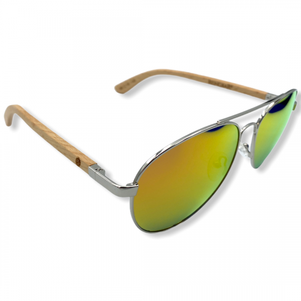 Beingbar Sun Eyewear BNGBR_AVT_200266 Flame Bamboo Orange Polarized Sunglasses-3