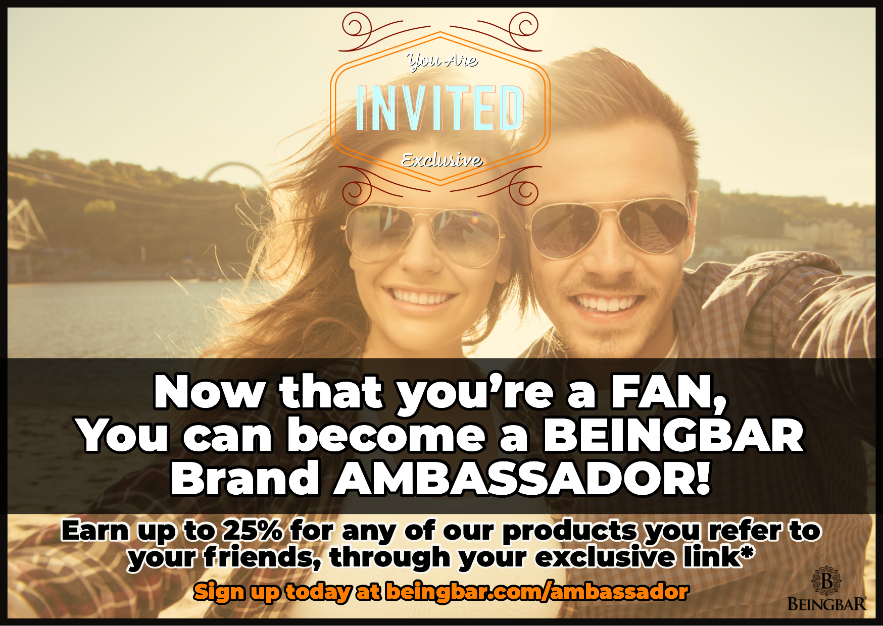 Become a BEINGBAR Ambassador - Join the Ambassador program
